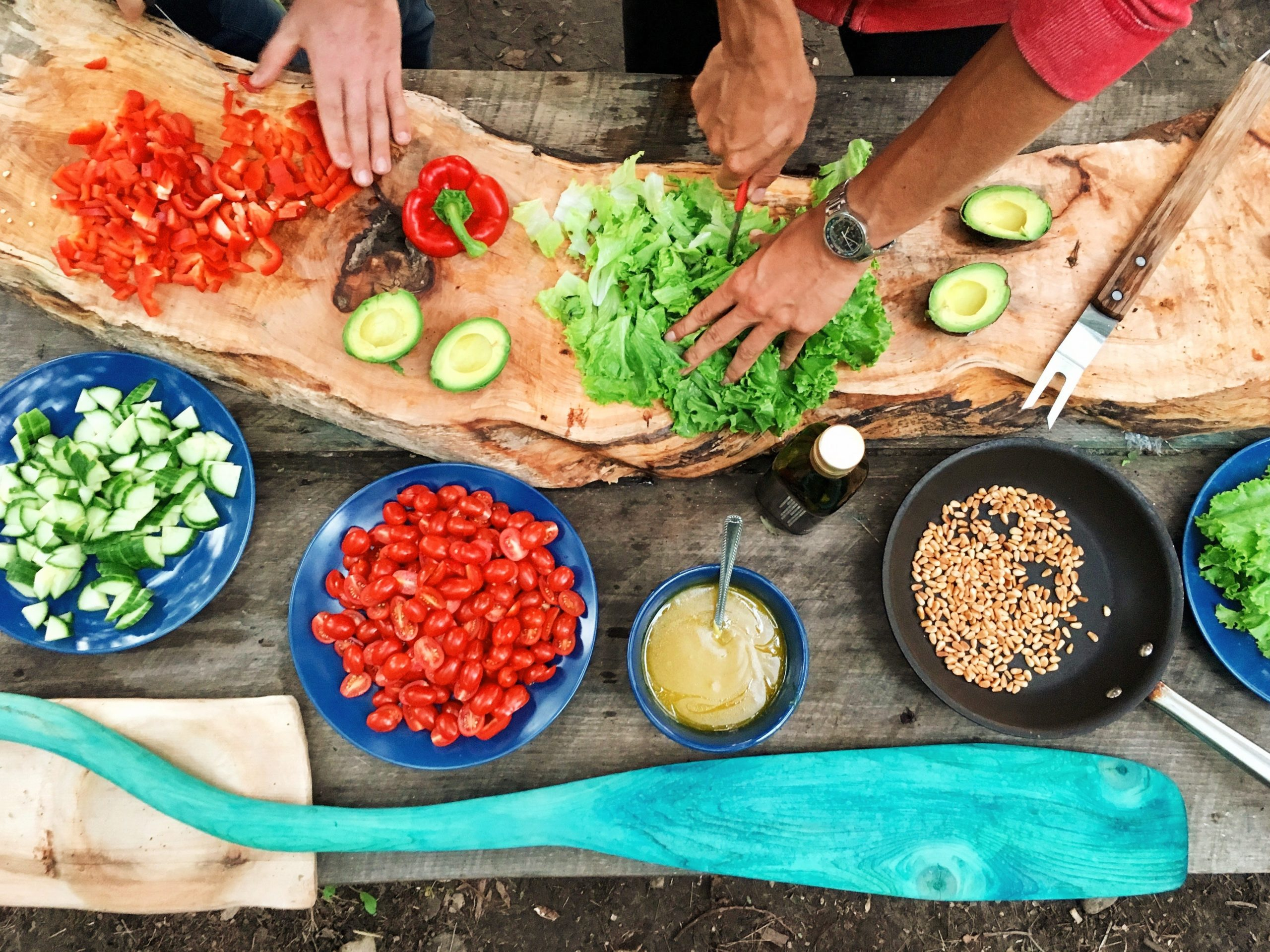 Picture of making vegetables